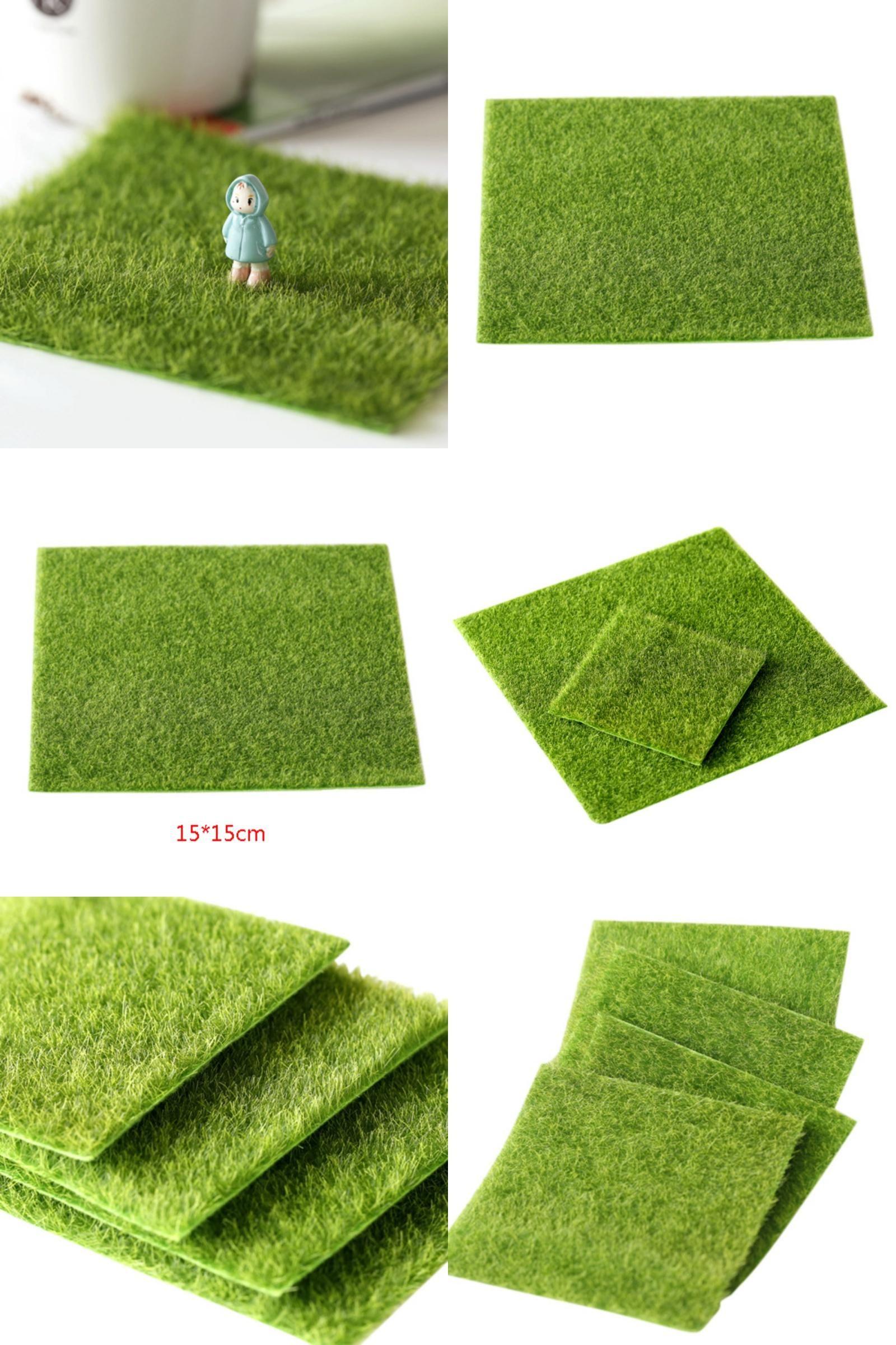 Micro Landscape Decoration DIY Fairy Garden Plant Simulation False Moss Grass#