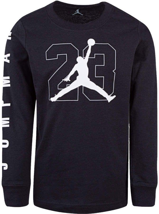 finest selection 06496 e7884 Nike Boys  Jordan Jumpman Long Sleeve T-Shirt