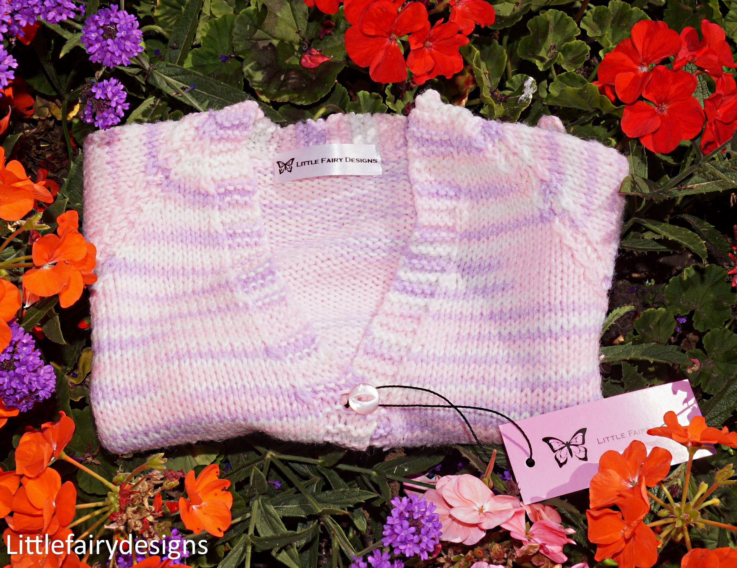 Gorgeous Handmade Knitted Baby Multi Cardigan 2-4y