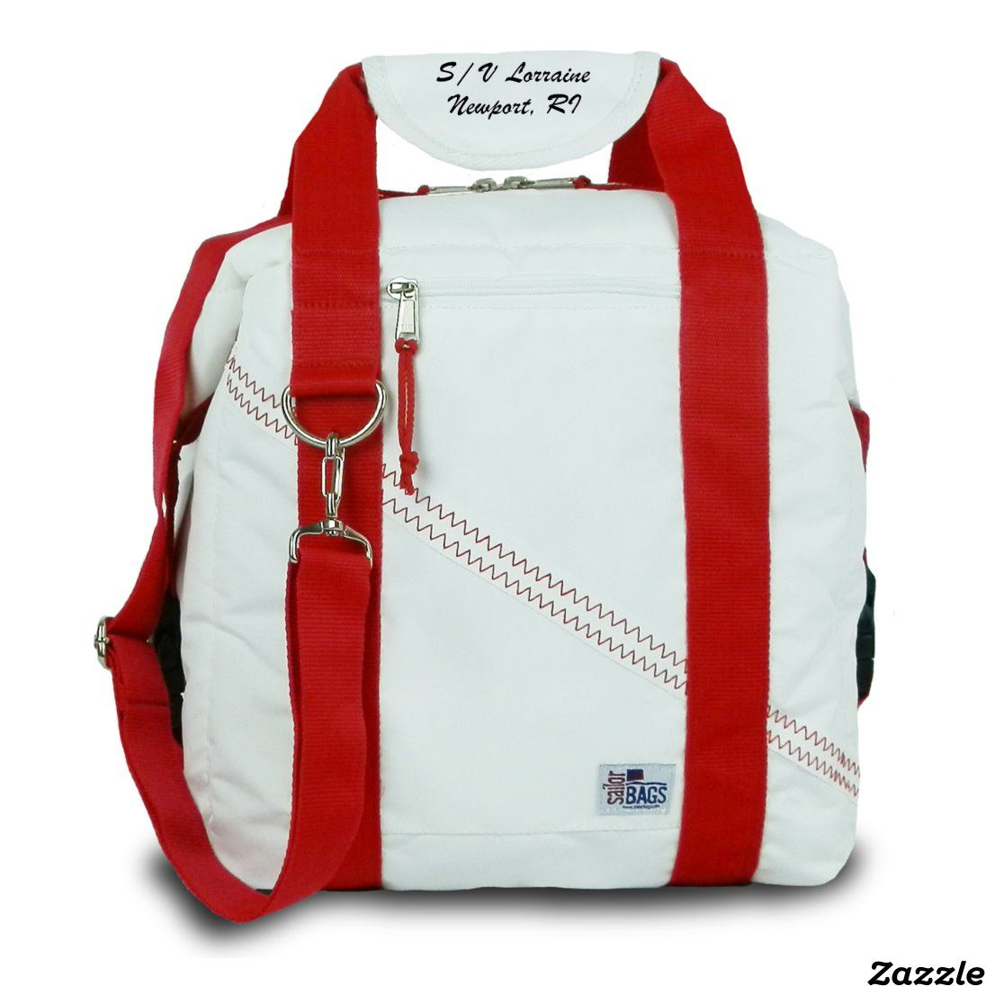 Newport Insulated Cooler Bag With Red Straps Zazzle Com In 2020 Cooler Bag Sailor Bags Bags