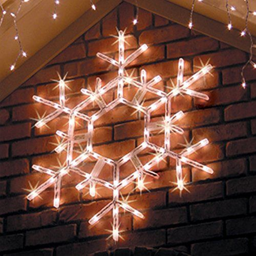 Lighted Snowflake 36 LED Folding Outdoor Christmas Snowflake