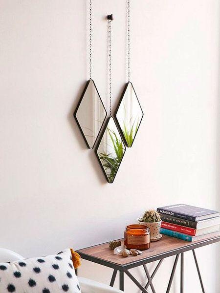 Un conjunto de espejos para decorar la pared