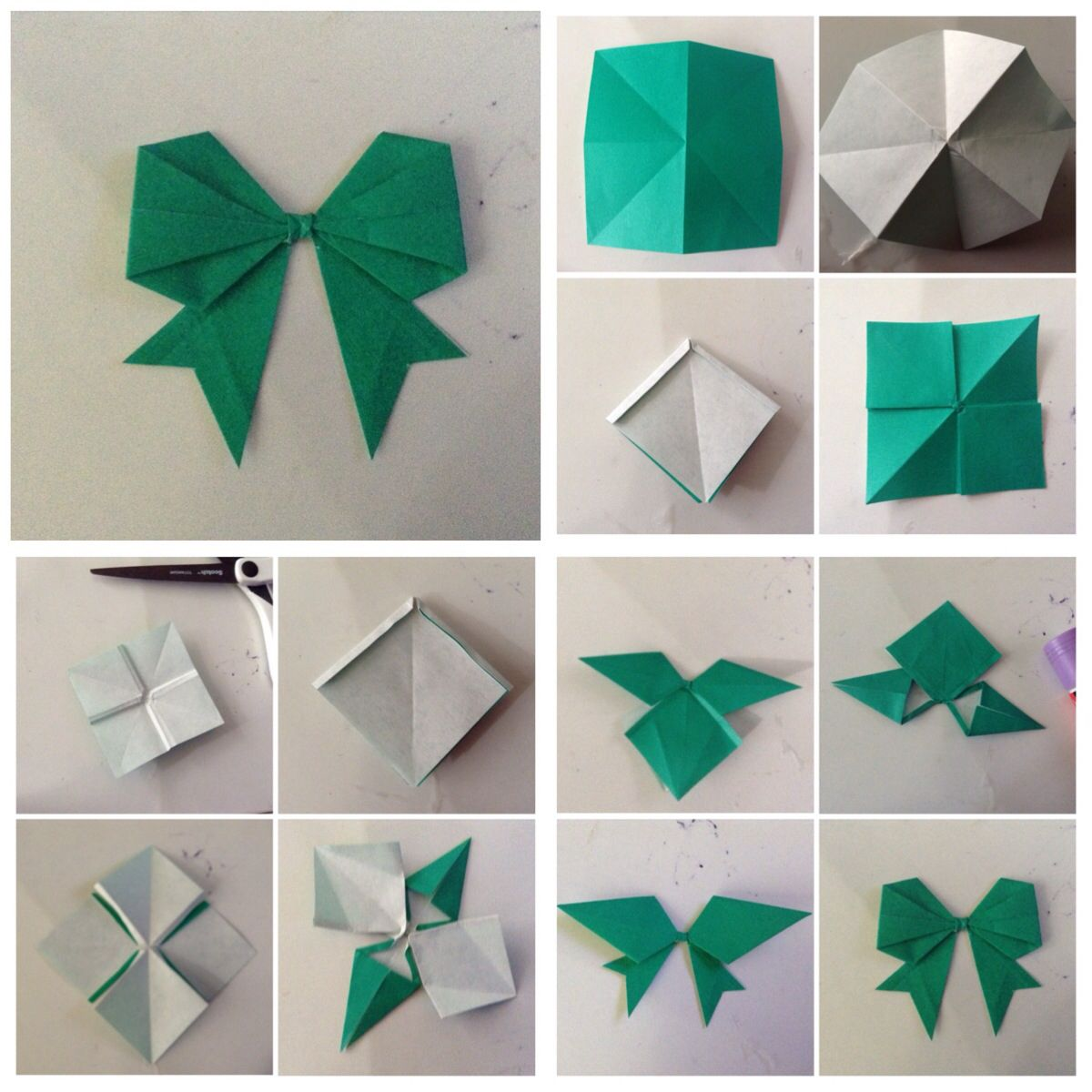 Diy Origami Bow Folding Diagram 1 Of 3 Scottish Terrier Dog Money