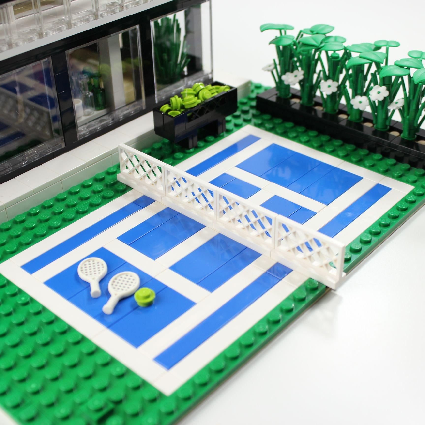 Lego Tennis Court With Ball Basket Lego Design Lego House Lego Furniture