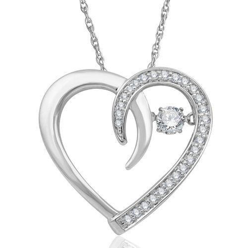 10k white gold heart diamond pendant necklace gh i2 023 carat 10k white gold heart diamond pendant necklace gh i2 023 carat diamond mozeypictures Gallery