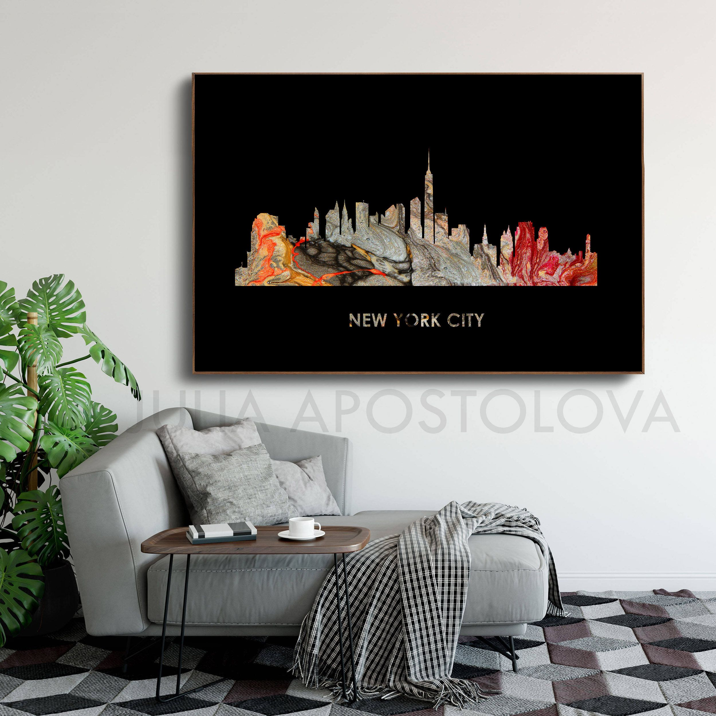 Upto 48 #Newyork #Canvas #Wallart #Art #Travelart #Skyline