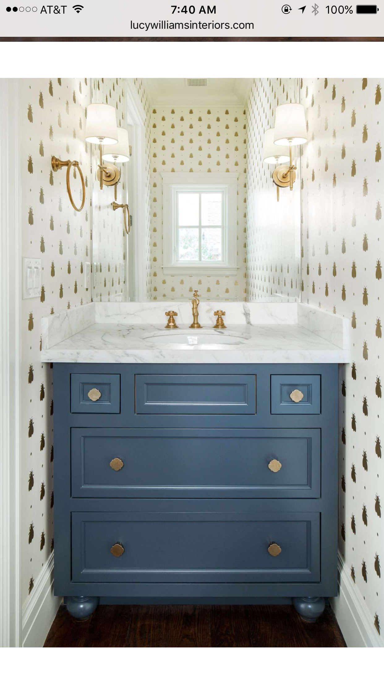 Powder Room With Wallpaper Mirrors Half Bathroom Small Rooms