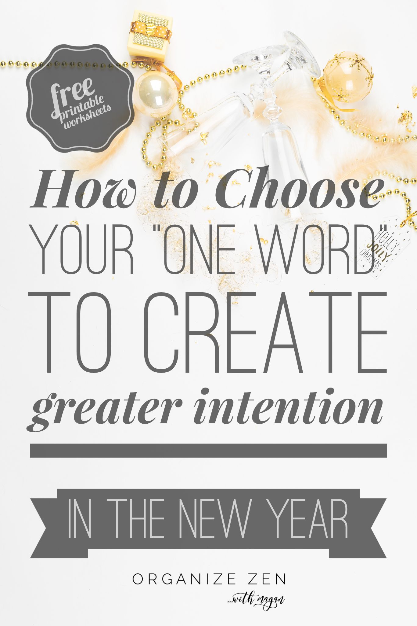 How To Choose Your New Year One Word