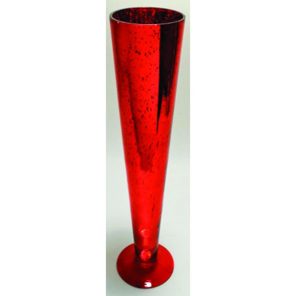 24 Red Antique Glass Pilsner Vase [SK24025 Buy Bulk Red Glass Vase ...