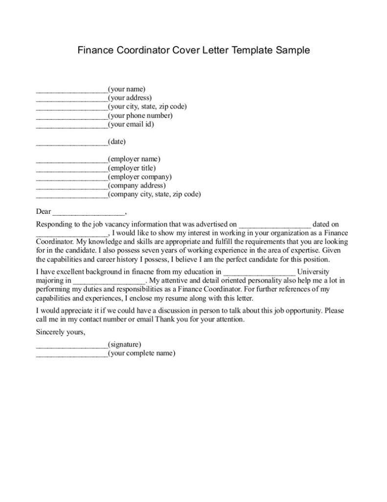 26 finance cover letter cover letter for resume resume