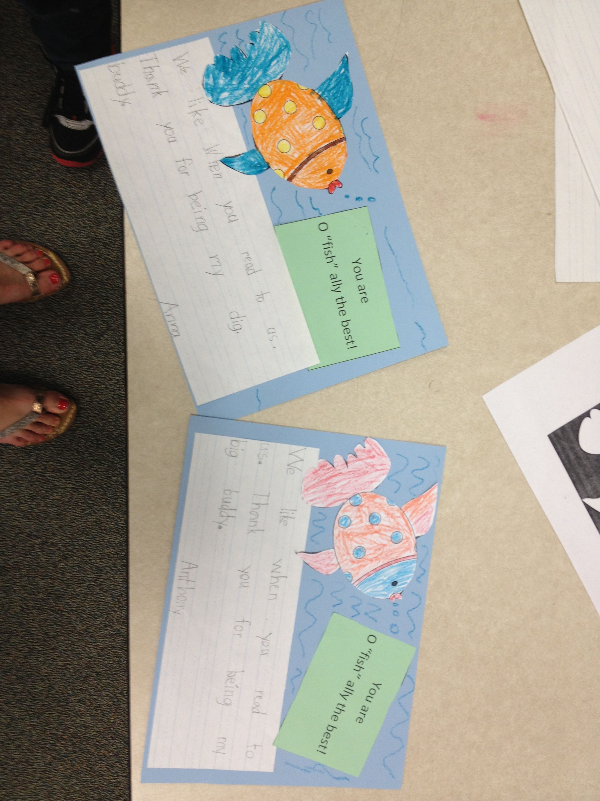 Our Big Buddy Thank You Cards Kindergarten