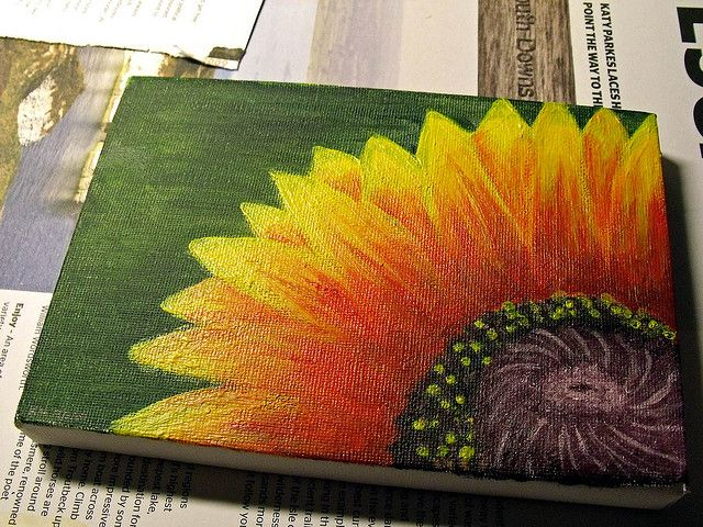 Mini art project canvas painting easy things to paint for Simple objects to paint