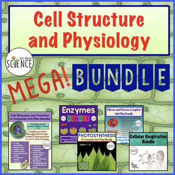 Cell Physiology MegaBundle Cells, Mitosis, Enzymes