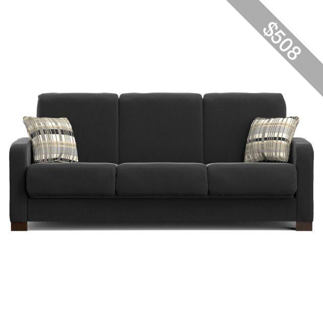 Phenomenal Portfolio Trace Convert A Couch Black Microfiber Futon Sofa Squirreltailoven Fun Painted Chair Ideas Images Squirreltailovenorg