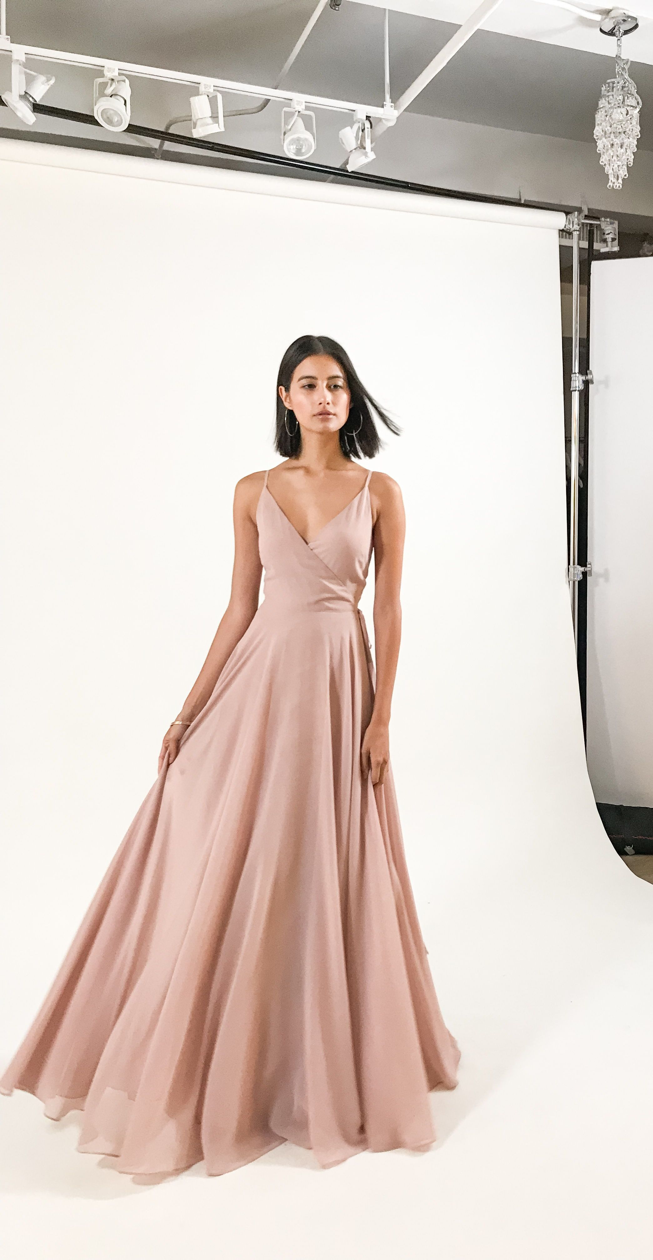 446dbd3011b Love a good wrap dress! The James dress by Jenny Yoo 2019 Bridesmaids is a  simple   effortless wrap dress with a spaghetti strap V neckline   an A  line ...