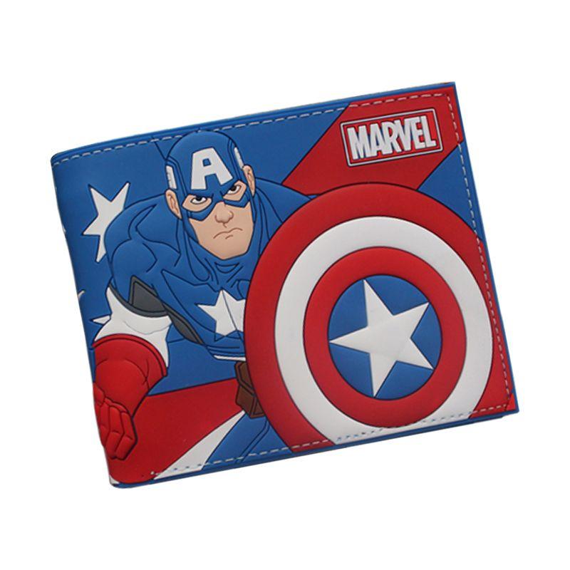최신 2016 애니메이션 DC 만화 지갑 귀여운 캡틴 아메리카 지갑 Bifold 십대 소년 소녀 스타 워즈 데드 풀 포켓몬 지갑
