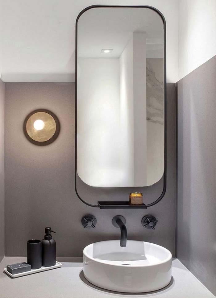 Badezimmerspiegel Klein.Badezimmerspiegel Tipps Zur Auswahl Des Idealen Modells Badezimmerspiegel Minimalistisches Badezimmer Badezimmer Dekor