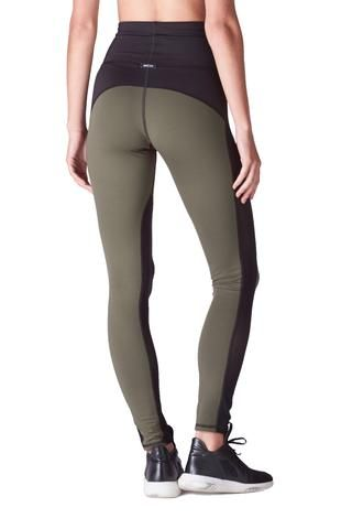Summit High Waisted Legging - Olive / Black