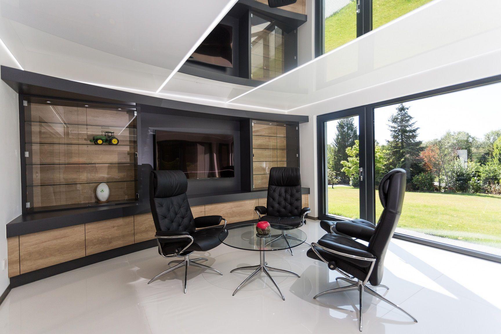 Bureau et baie vitrée extension spa de rêve en ossature bois à