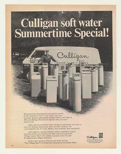 Remember Hey Culligan Man You Re Hearing That In Your Head Too Aren T You 1972 Culligan Water Softener Ad Culligan Water Softener Vintage Ads