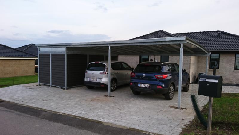 Carport med redskabsrum Dansk Stål Design i 2019