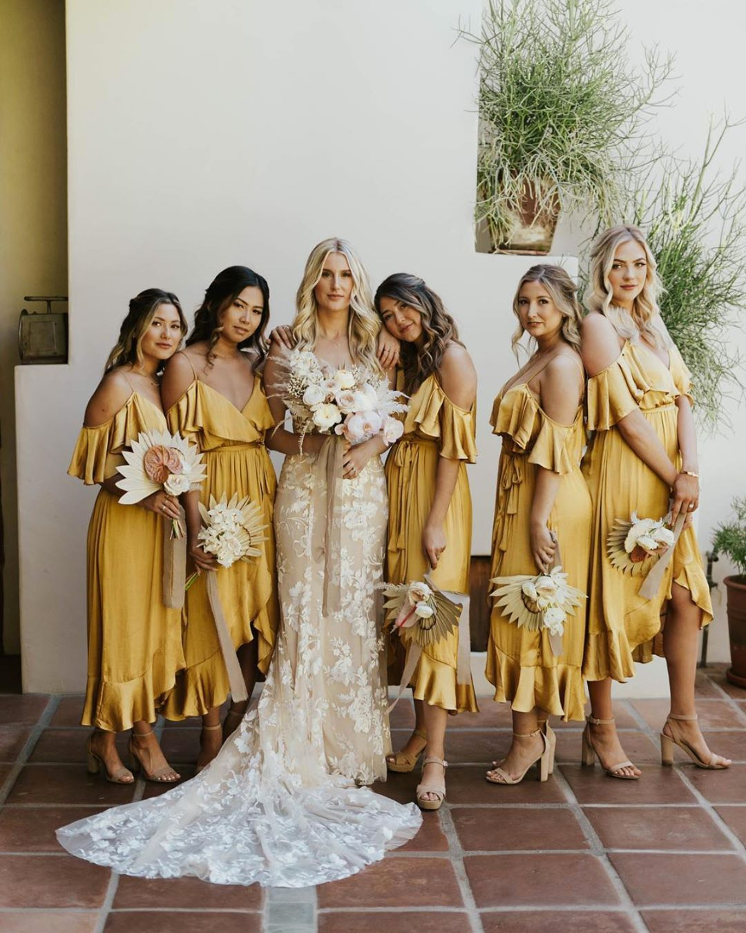 Second Only To Rust Coloured Bridemaid Dresses This Fun Loving Bohemian Yellow Silk Is Yellow Bridesmaid Dresses Spring Bridesmaid Dresses Yellow Bridesmaids