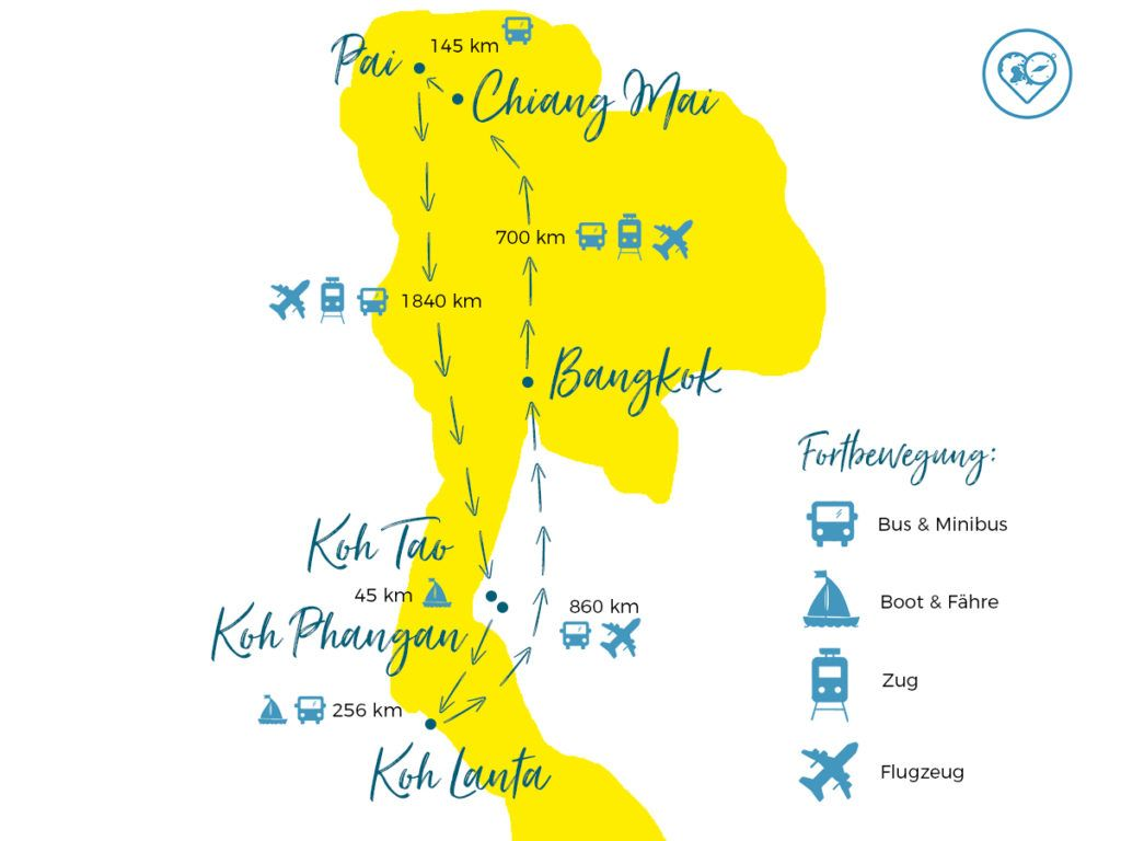 Thailand Backpacking Route Individuelle Reiseroute Fur 3 5 Wochen Thailand Rundreise Thailand Reisen Thailand Reise Tipps