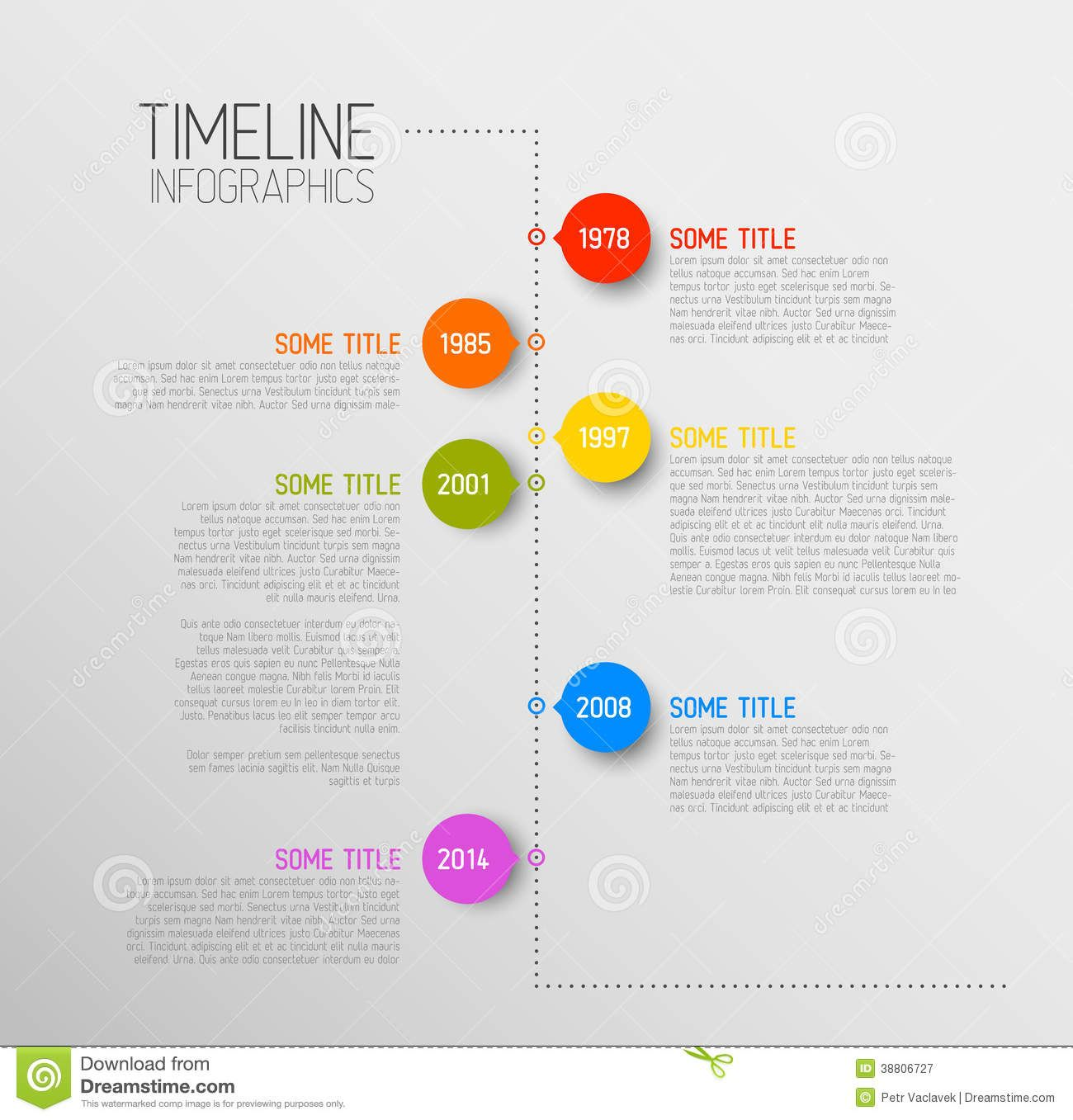 Vector Retro Infographic Timeline Template With Pointers  Stock