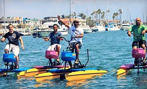 One Hour Hydrobike Rental For One Or Two From Pacific Coast Hydrobikes Half Off Pacific Coast Newport Beach Coast