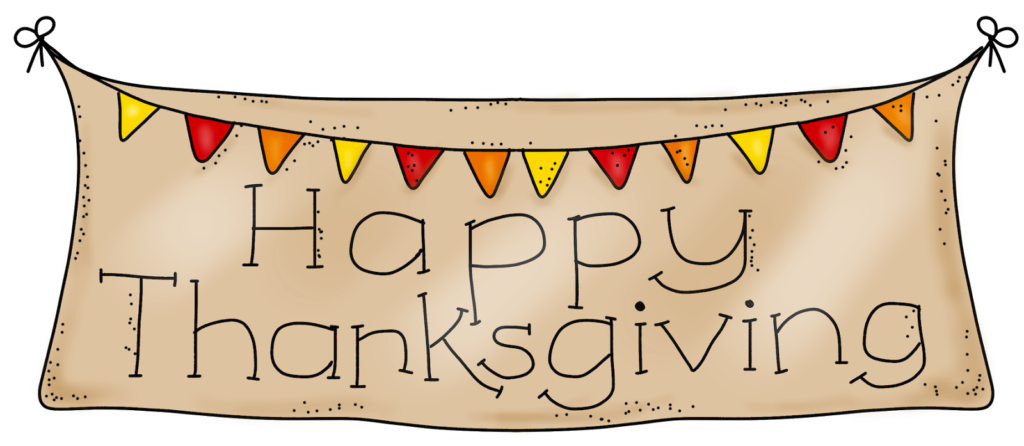 Thanksgiving Clipart Banner Graphic Black And White With Images