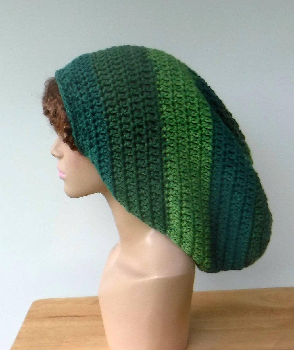 Mint Green Long Dread Tam Hat Dreadlocks Hat Wide Handmade