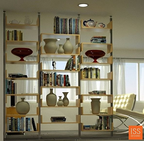 31 creative ideas using shelving as a room divider - snappy pixels