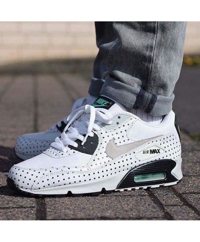 Nike Air Max 90 Hyperfuse White Black Green Trainer | Tenis