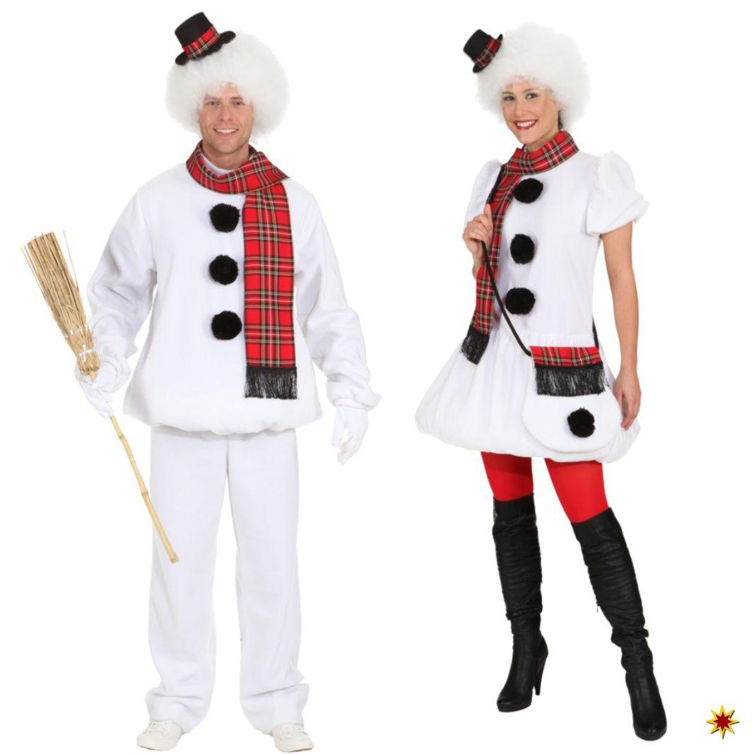 Schneemann Kostüm Selber Machen : partner kost m schneemann und schneefrau zu fasching oder mottopartys kost me f r erwachsene ~ Frokenaadalensverden.com Haus und Dekorationen
