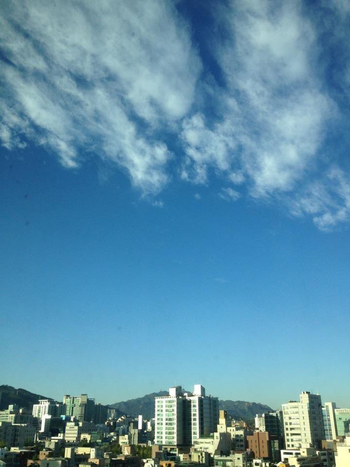 차가운 하늘~