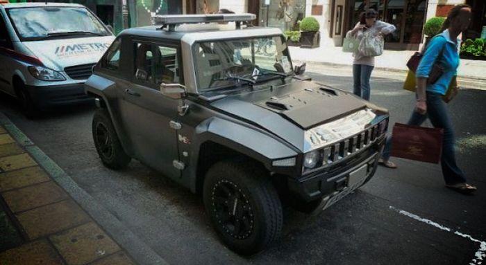 O que é isso, Fiat 147 ou um Hummer?