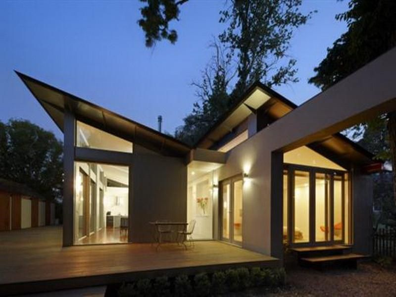Unique modern single story house plans contemporary for Custom contemporary homes