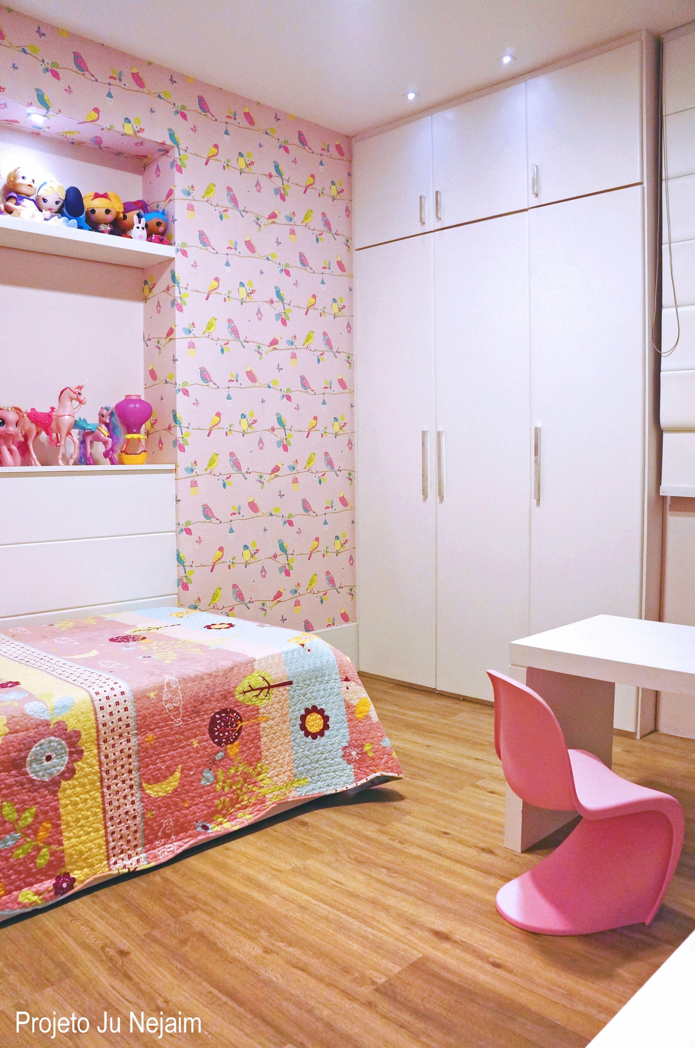 Quarto Para Uma Mocinha De 6 Anos Projeto Da Arquiteta Ju Nejaim  ~ Projeto De Quarto De Solteiro E Quarto Roxo E Verde Agua