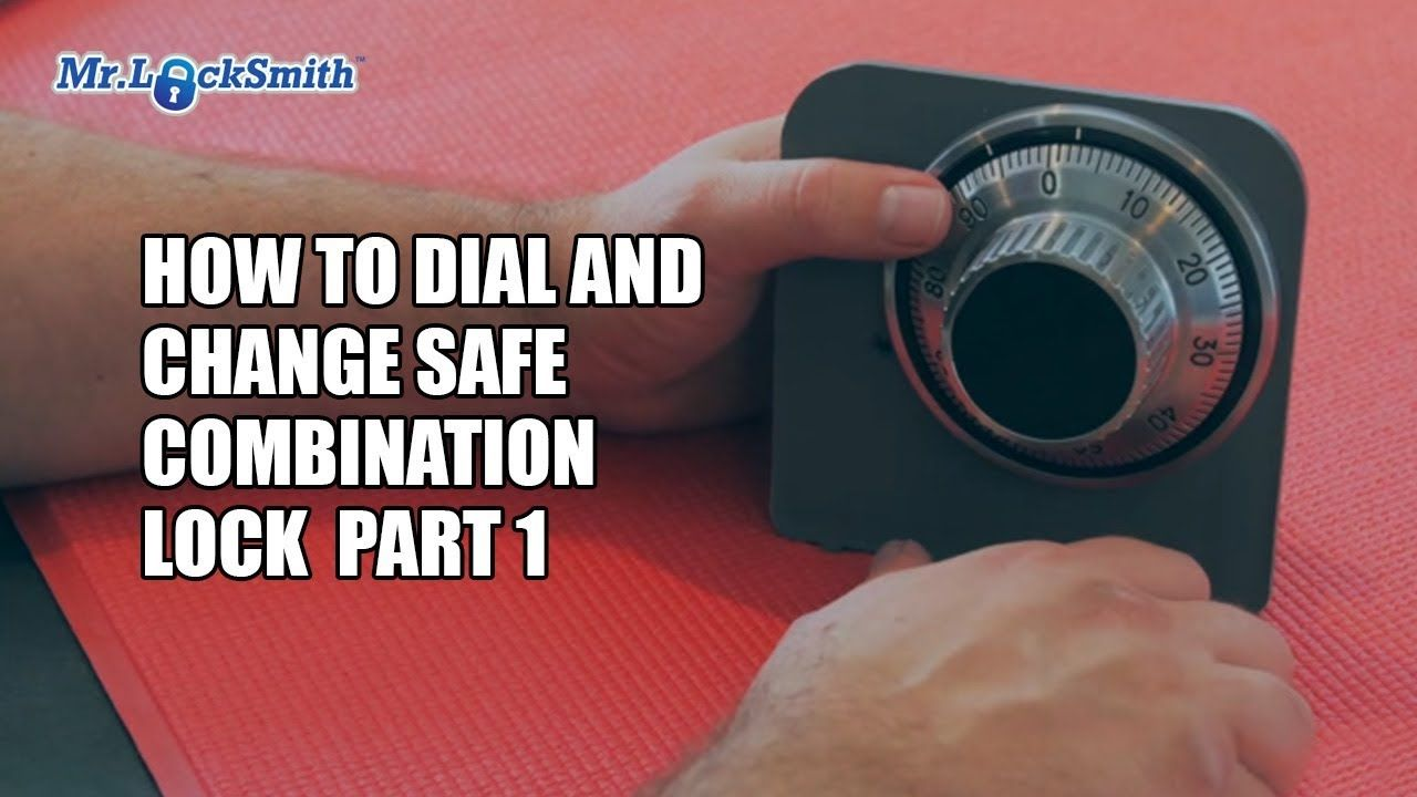 How to dial and change safe combination lock part 001 mr