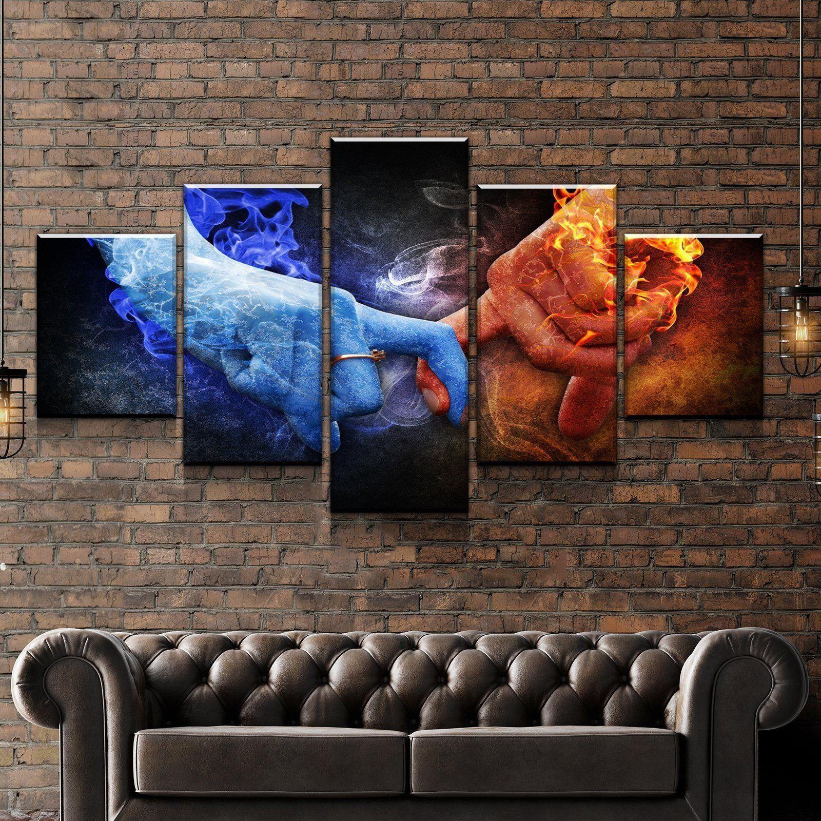 Love Balance Canvas Set Wall Art Man Cave Gallery Wrap Etsy Man Cave Wall Art Canvas Set Multi Panel Paintings
