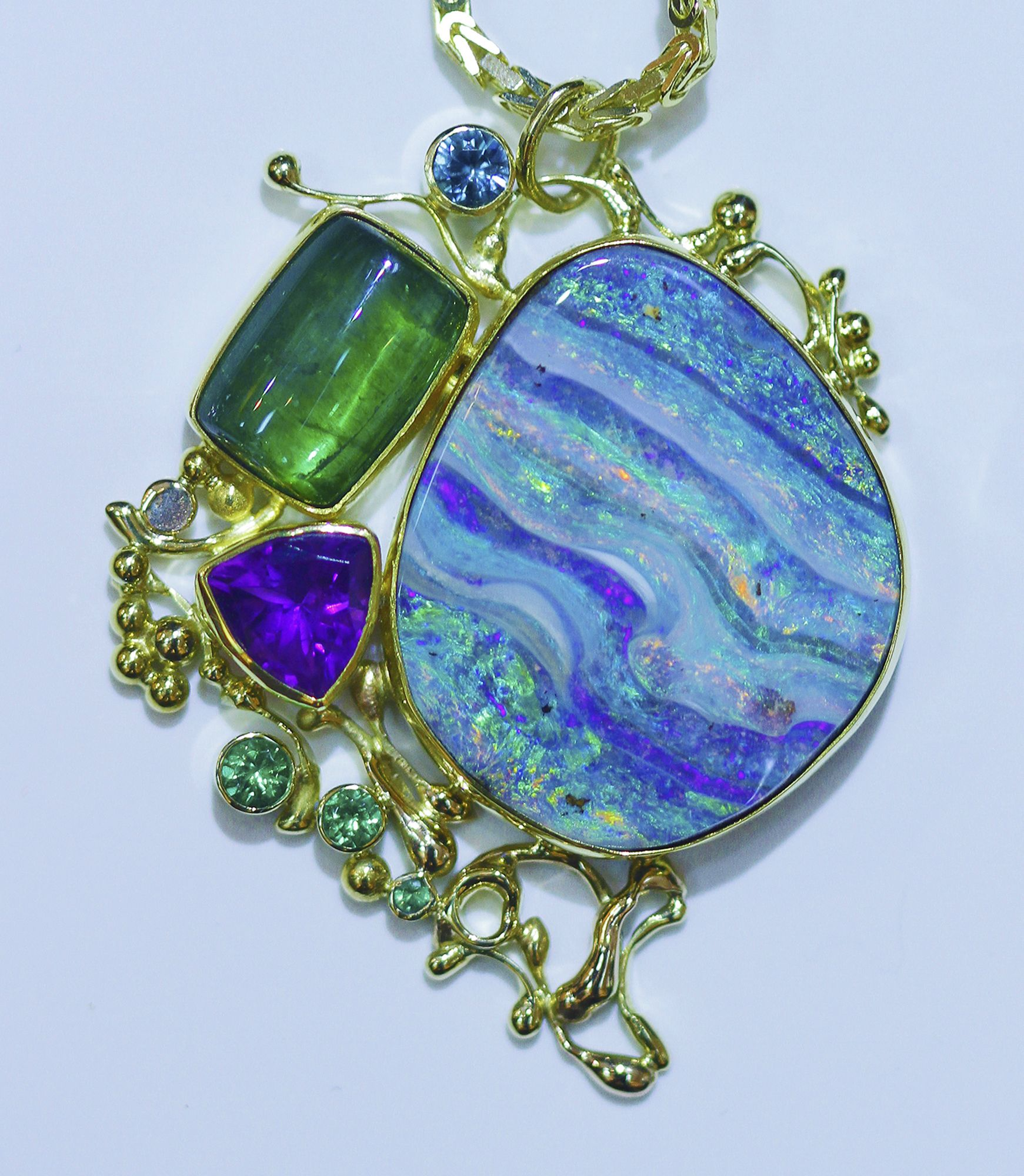 from by pendant hundred on necklaces two jennifer and work best necklace over artists images made kalled as pinterest well opal jewelry american studio designed small boulder