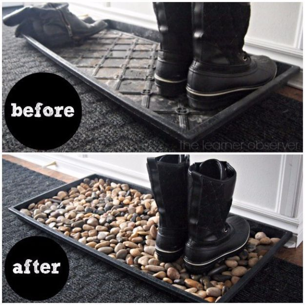 Photo of Pebble and Stone Crafts – Mudroom Pebble Mat – DIY Ideas Using Rocks, Stones and…