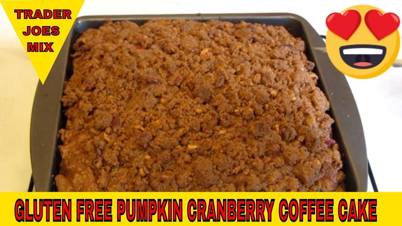 Gluten free pumpkin cranberry streusel coffee cake using