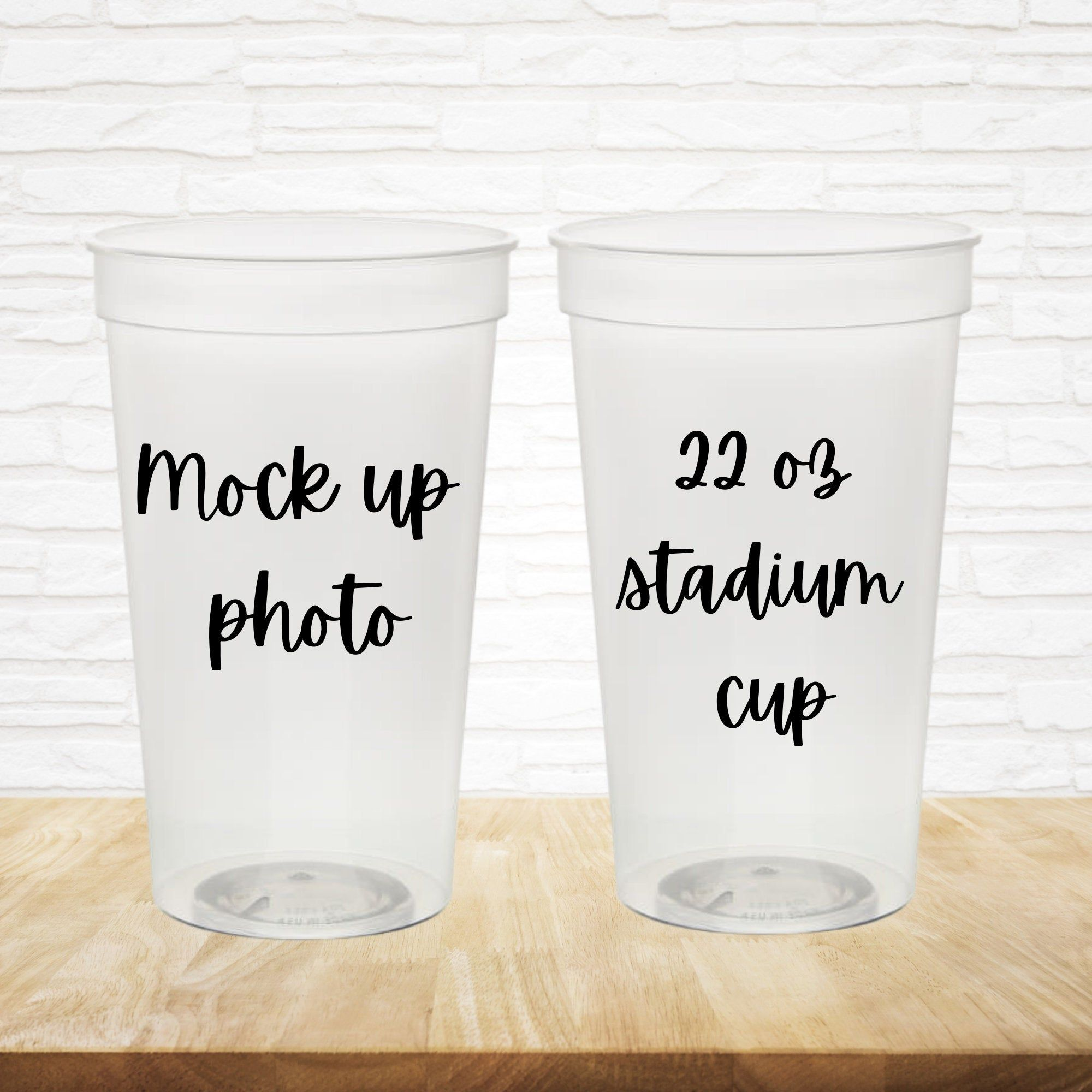 Bundle Transparent Stadium Cup Mock Up Photo 22 Oz Stadium Etsy In 2021 Photo Cup Stadium Cups Reusable Coffee Sleeve