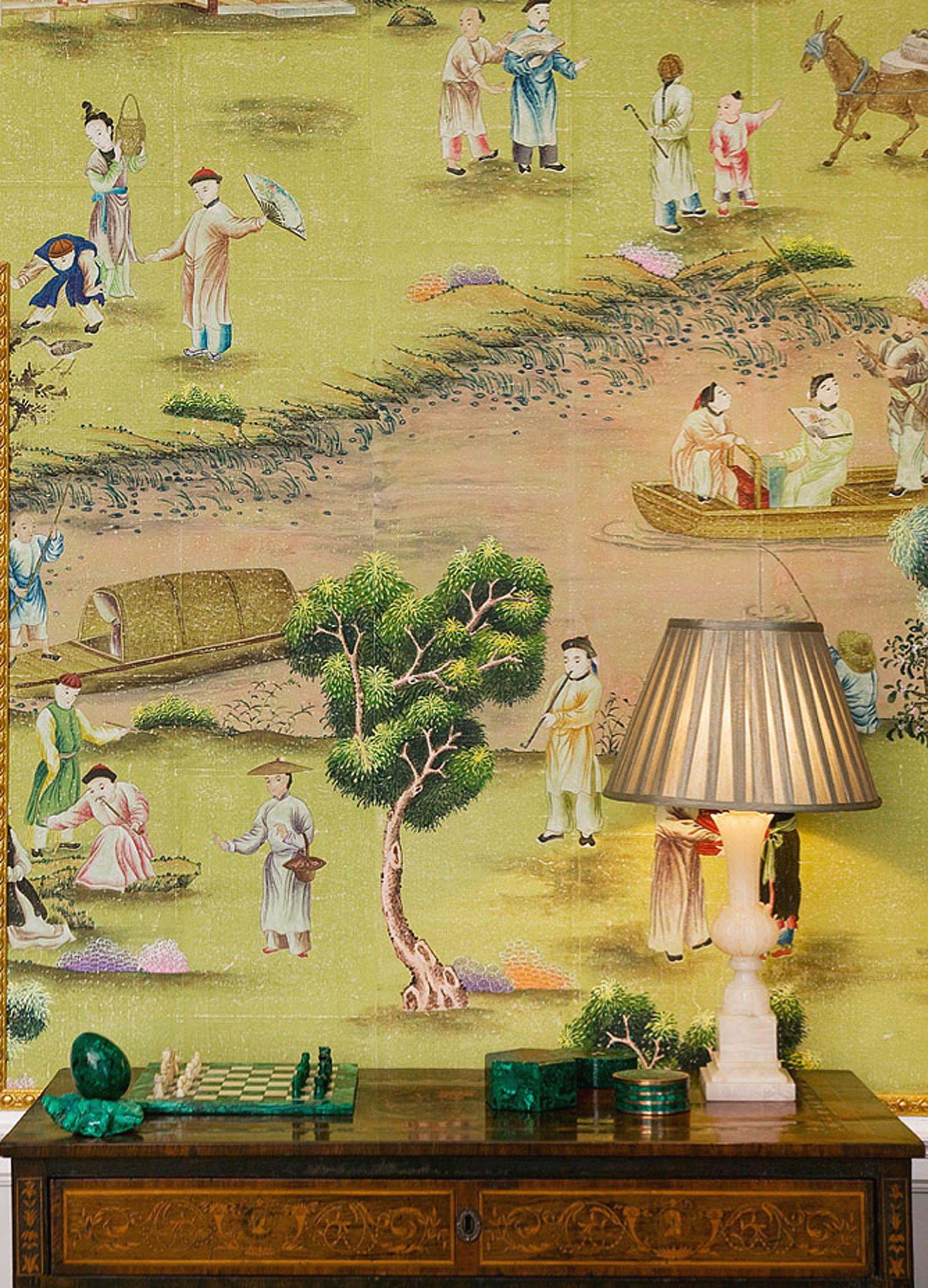 Chinoiserie wallpaper \'\'Hampton Court\' design in standard design ...