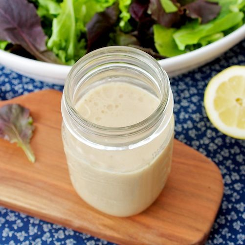 """Creamy Honey Balsamic Dressing from """"Our Family Eats"""" - Made with Greek Yogurt and perfect for summer salads"""
