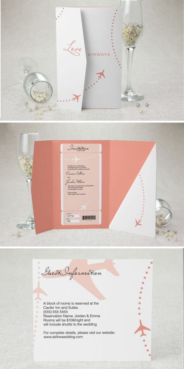 11 travel themed wedding invitations   invitations, themed, Wedding invitations