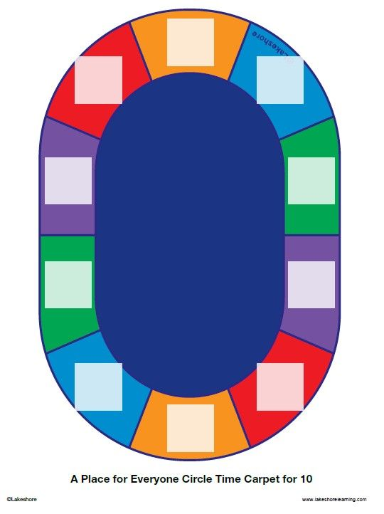 Seating Chart For Lakeshore S A Place For Everyone Circle Time Carpet For 10 Click On Pin To Edit And Add Stud Circle Time Lakeshore Learning Daycare Schedule