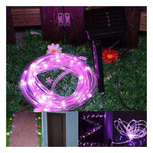 Tubo De 50 Luces Led Solares P Interior O Exterior Rosa Luz Led Luces Solares Exterior Luces Solares