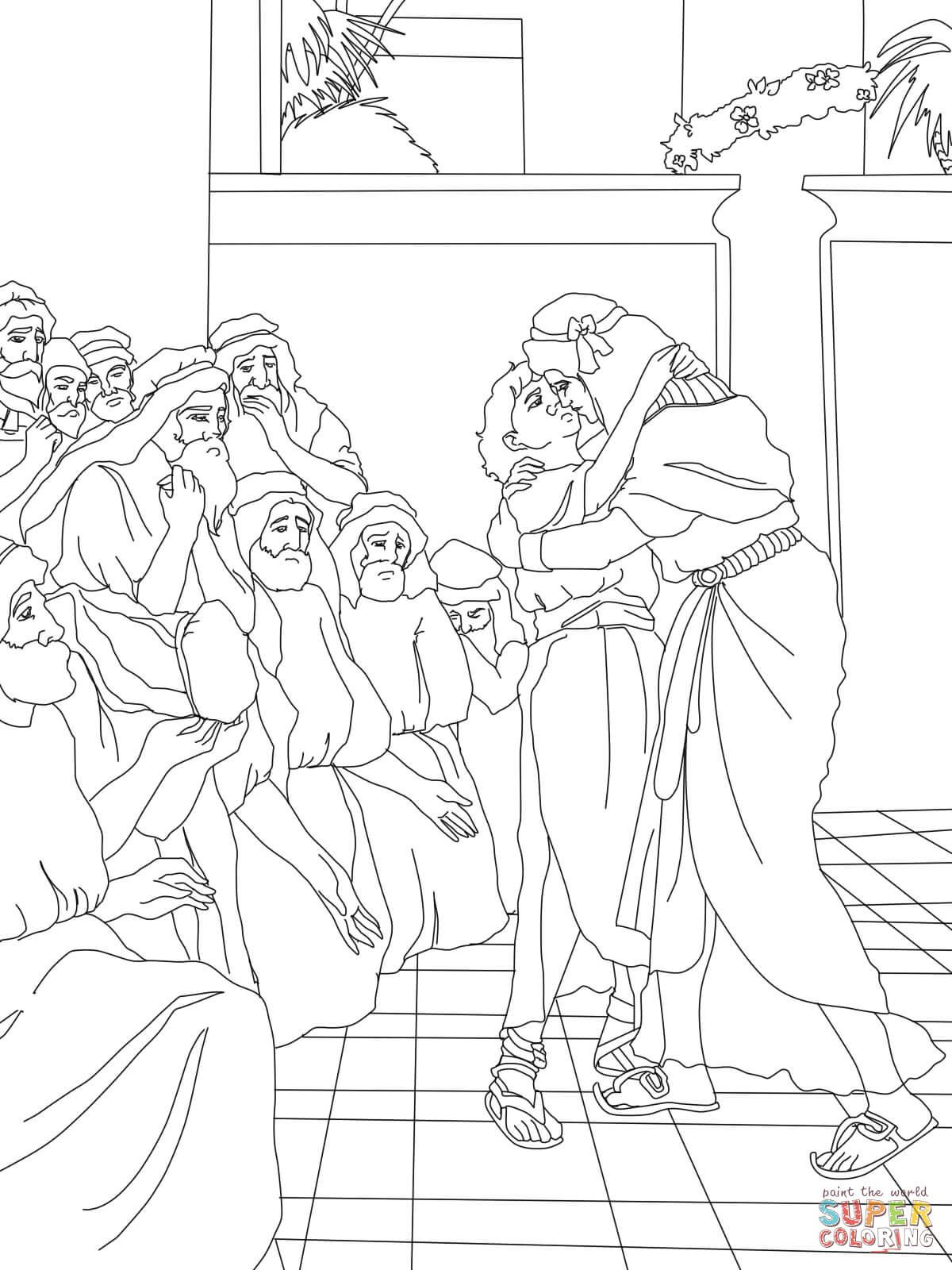 joseph forgives his brothers coloring page escuela